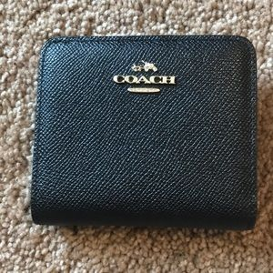 Coach small black bifold wallet